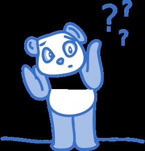 Panda em dúvida